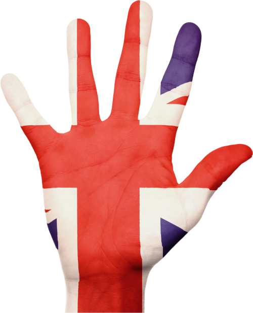 flag union jack hand