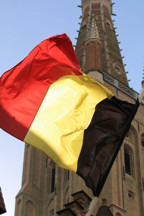 flag bruges belgium