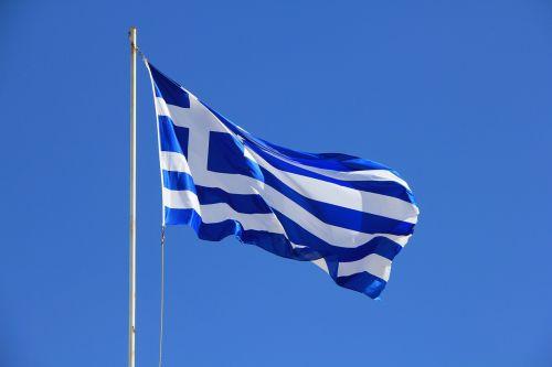 flag greece blue