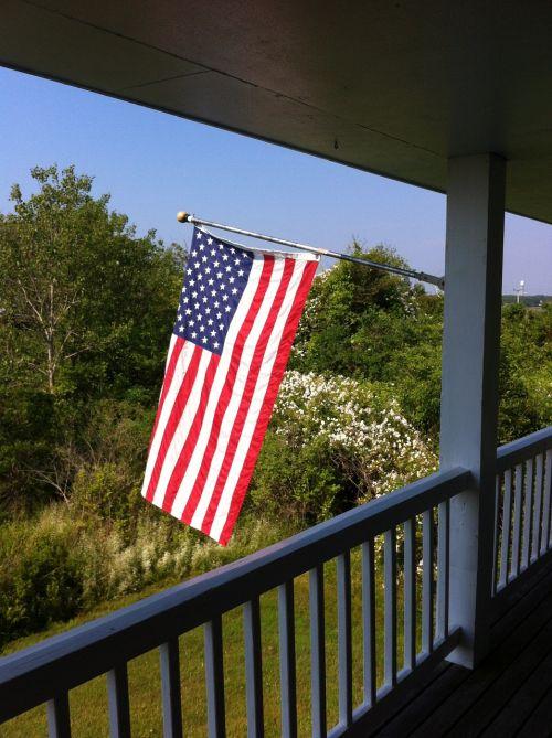 flag porch american