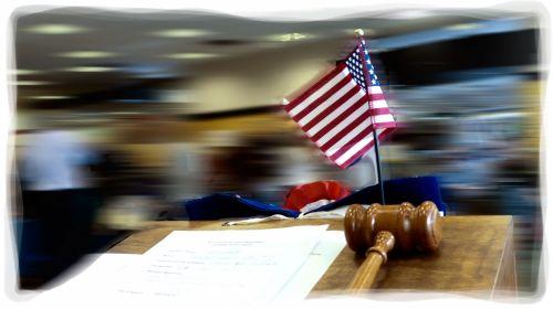 Flag And Gavel Speaker