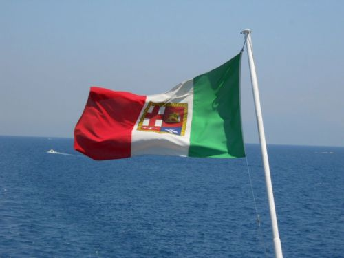 Flag And Sea