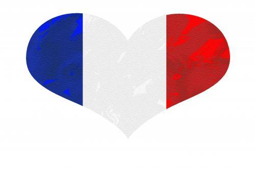 Flag Heart France