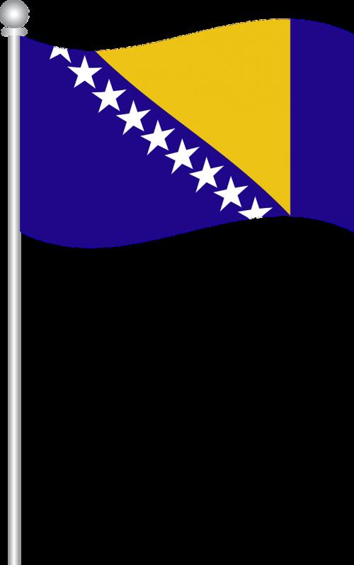 flag of bosnia flag bosnia