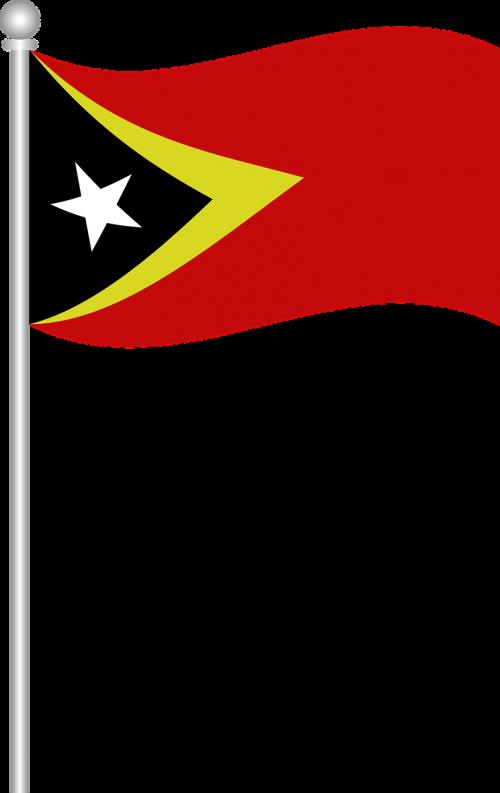 flag of east timor flag east timor