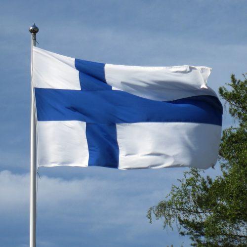flag of finland blue cross flag finnish