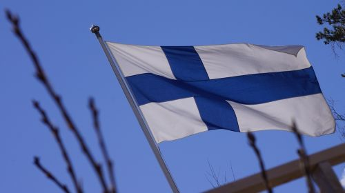 flag of finland,blue cross flag,flagpole,flag lever,flies,flag,finnish
