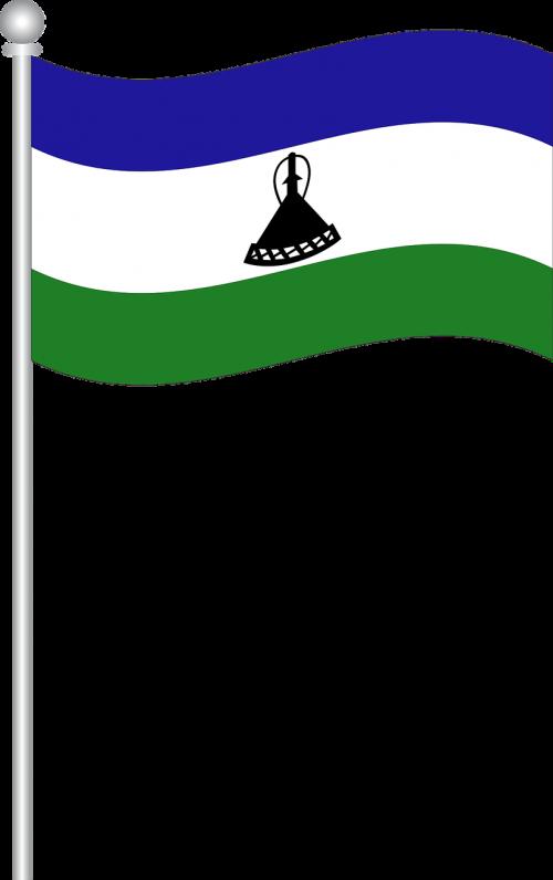 flag of lesotho flag lesotho