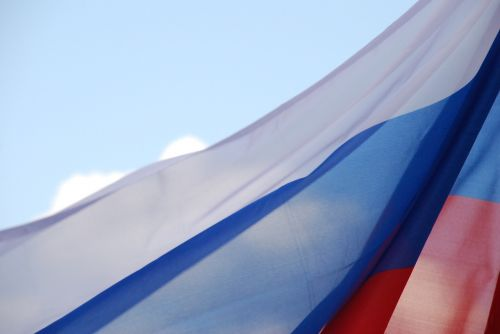 flag of russia sky moscow