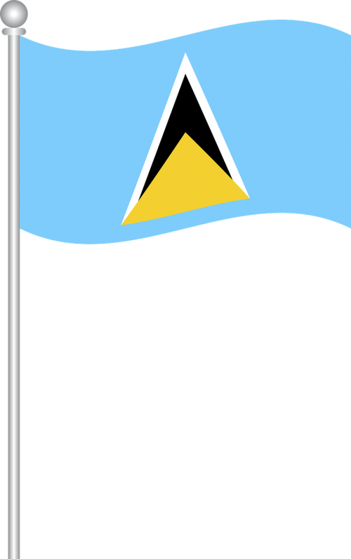 flag of saint lucia flag saint lucia