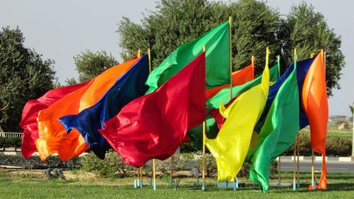 flags colours colorful