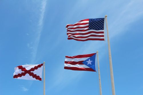 flags puerto rico united states