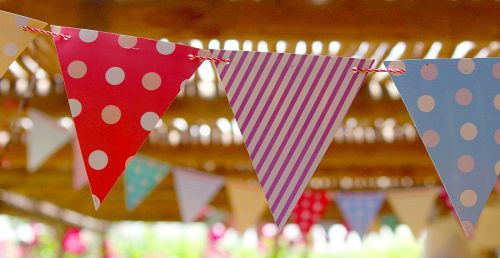 flags pennant birthday party