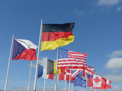 flags allliés landing