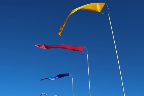 flags wind primary colors