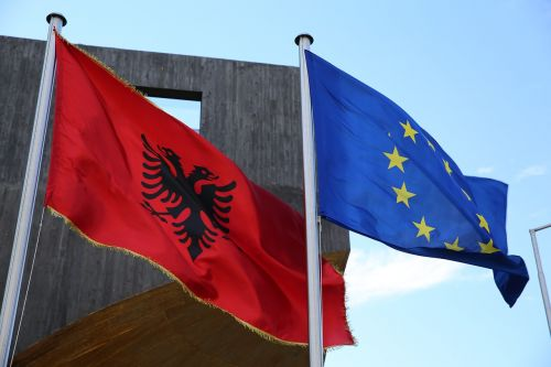 flags albania eu