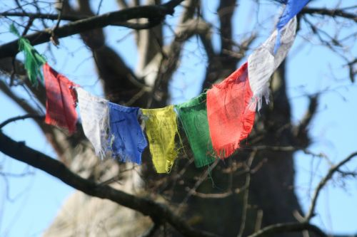 flags prayers tibet