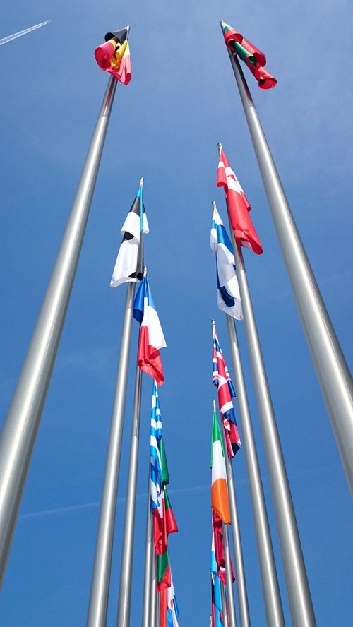 flags europe flags mast
