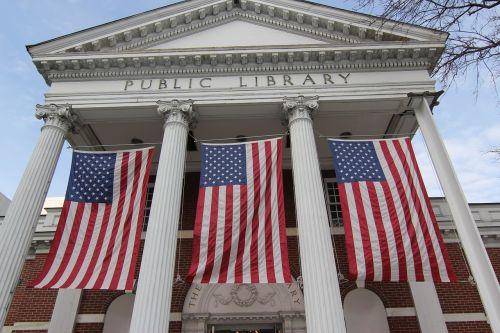 flags civic pride public building
