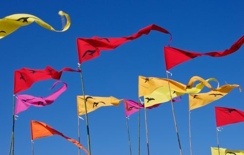 flags pennants red
