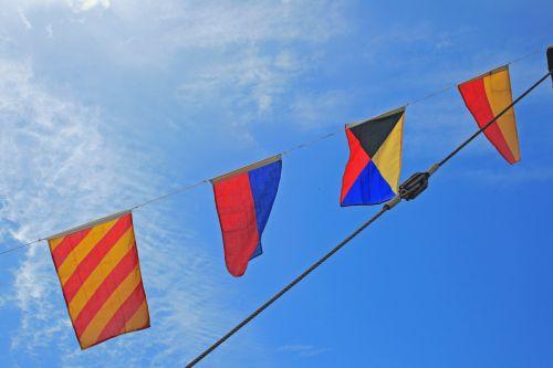 Flags Against The Sky