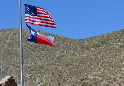 Flags American Texas