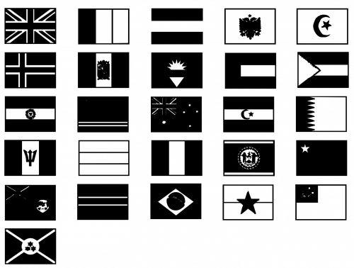 silhouette,flag,flags,international,england,flags international