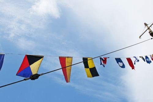 Flags On Mast Line