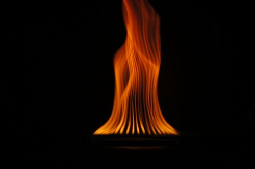 flame fire hot