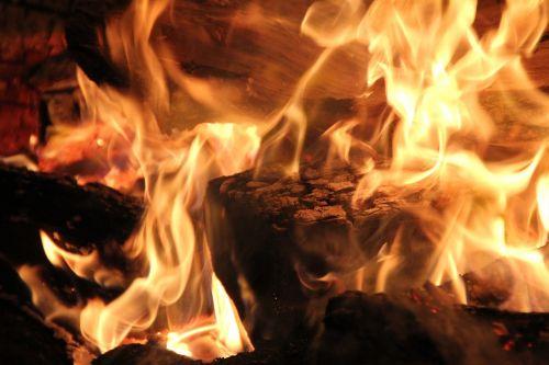 flame blaze wood