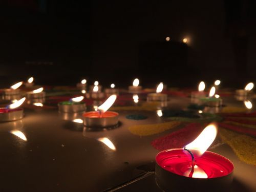 flame diwali rangoli