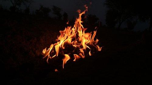 flame  hot  bonfire