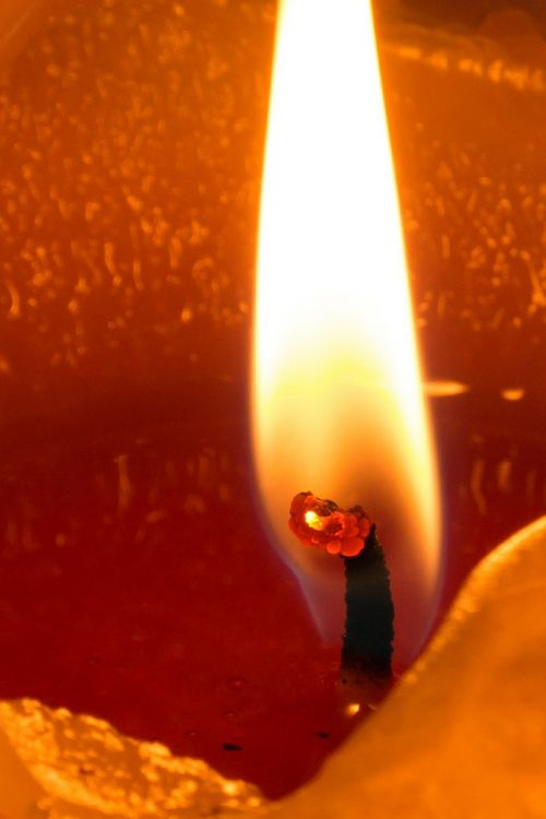 flame wick candle