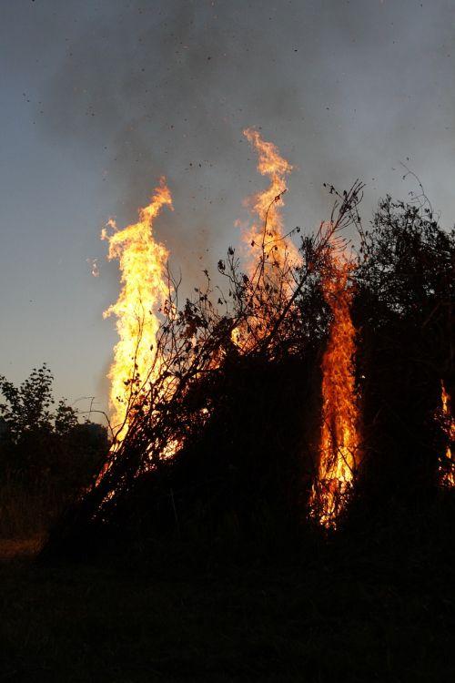 flame bonfire fire