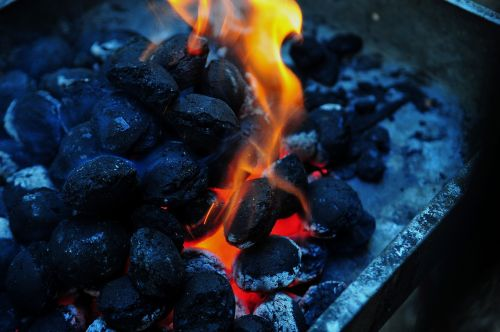 flame charcoal barbecue