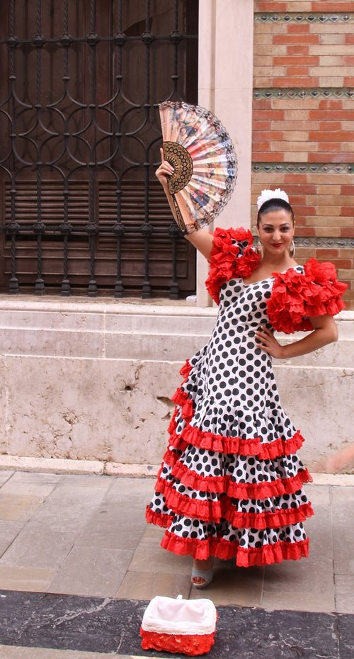 flamenco dancer  dress  ruffles
