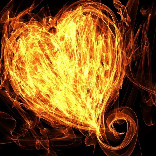 Flaming Heart Illustration