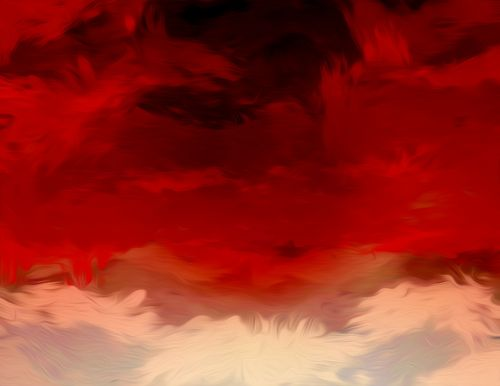 flaming skies ominous fire