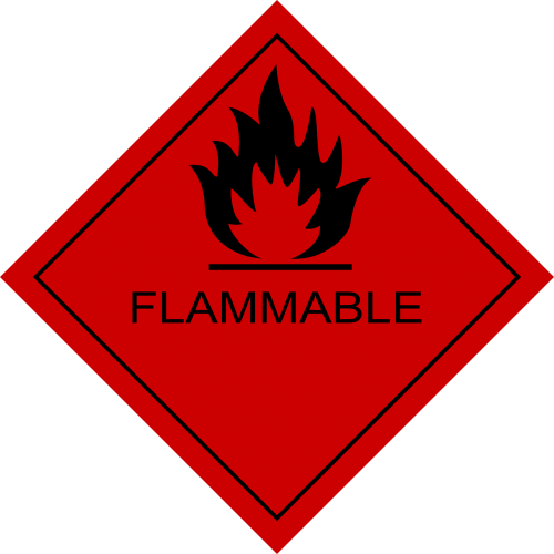 flammable fire flame