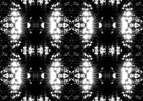 Flaring Lights Repeat In B & W