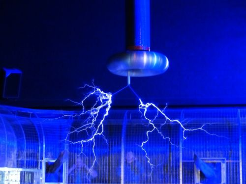 flash tesla coil experiment