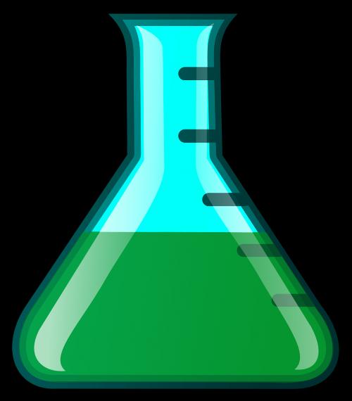 flask erlenmeyer flask green