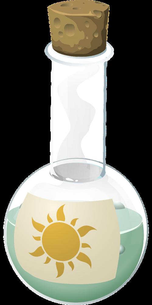flask glass liquid