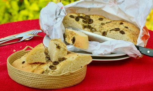 flat bread bread olive bread
