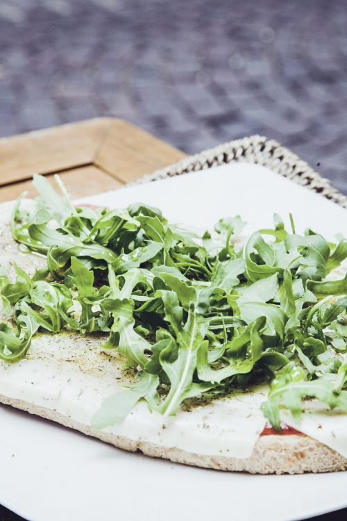 flat bread salad baguette