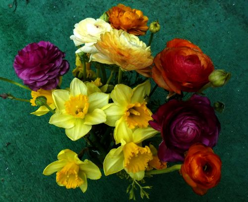 Flat Lay Flower Bouquet