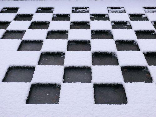 flat roof snow winter