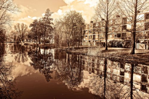 flats apartment block residential