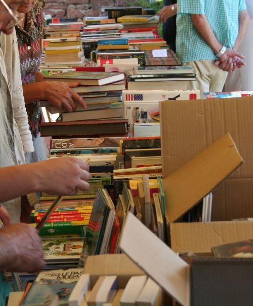 flea market bookseller vide-grenier
