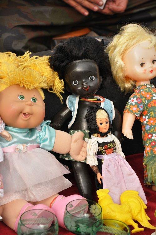 Sendaikčių turgus, Baby Doll, turgus, Vintage, Retro, žaislas, senas